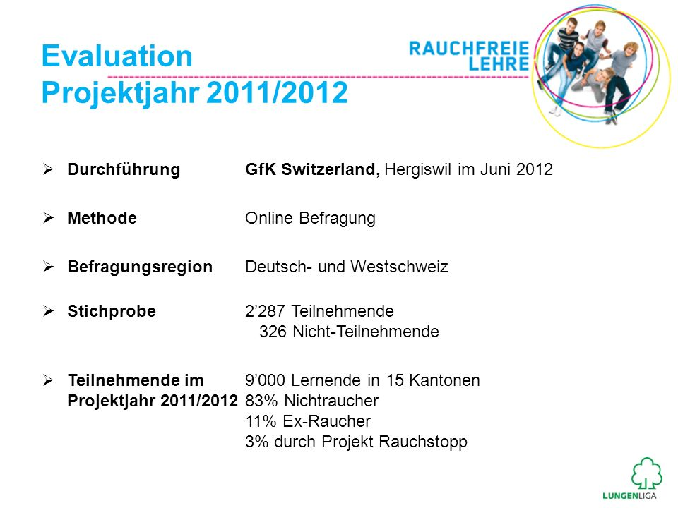 Evaluation Projektjahr 2011/2012