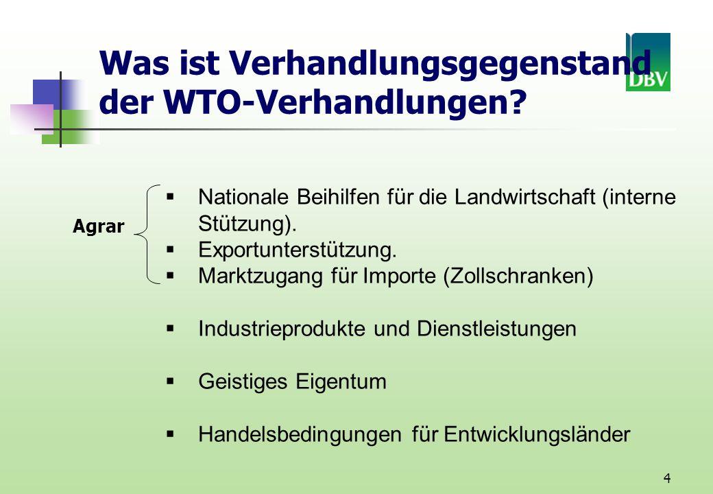 Was ist Verhandlungsgegenstand der WTO-Verhandlungen