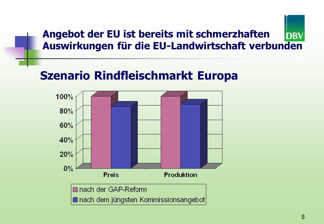 Szenario Rindfleischmarkt Europa