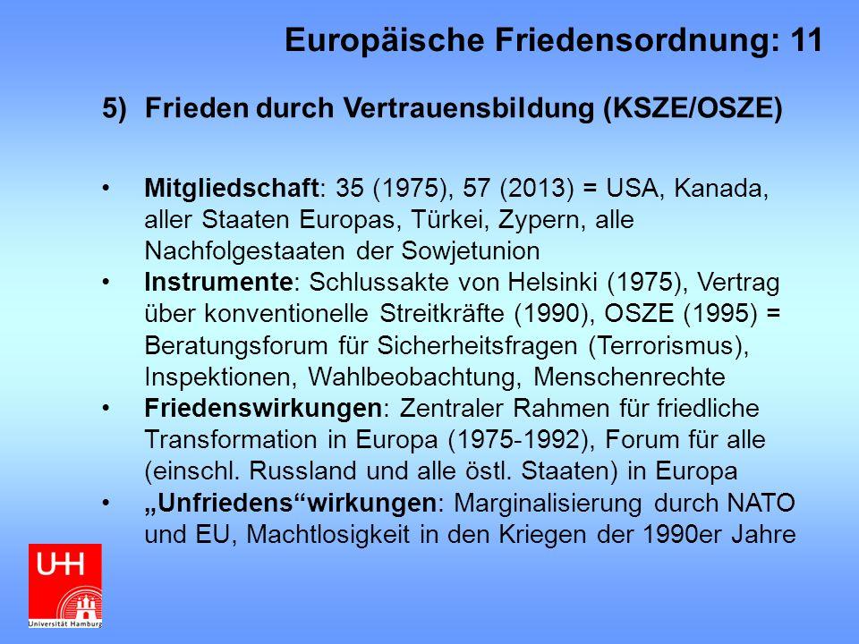 Europäische Friedensordnung: 11