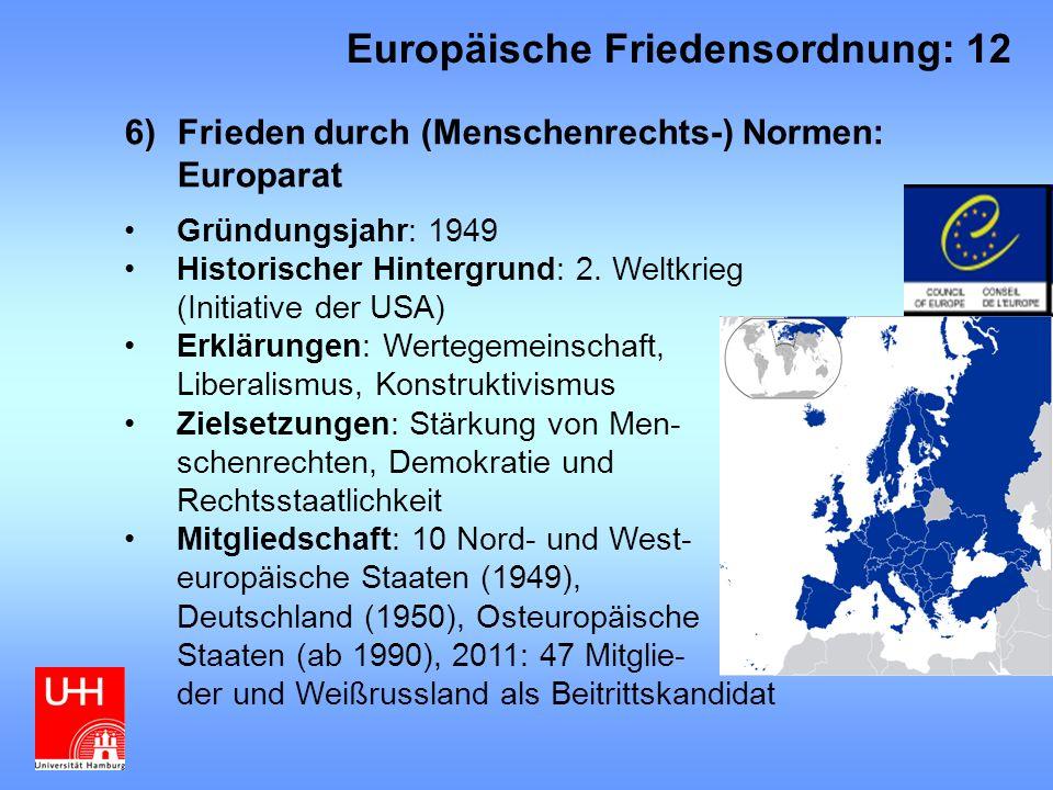 Europäische Friedensordnung: 12