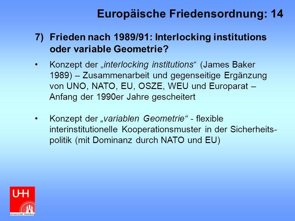 Europäische Friedensordnung: 14