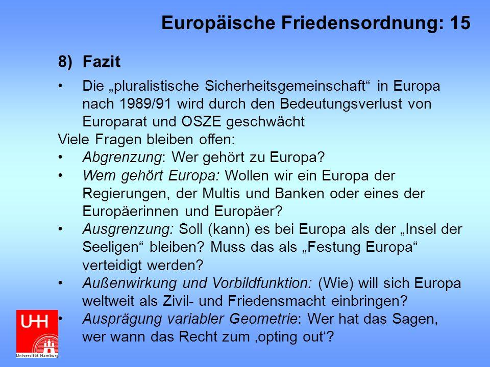 Europäische Friedensordnung: 15