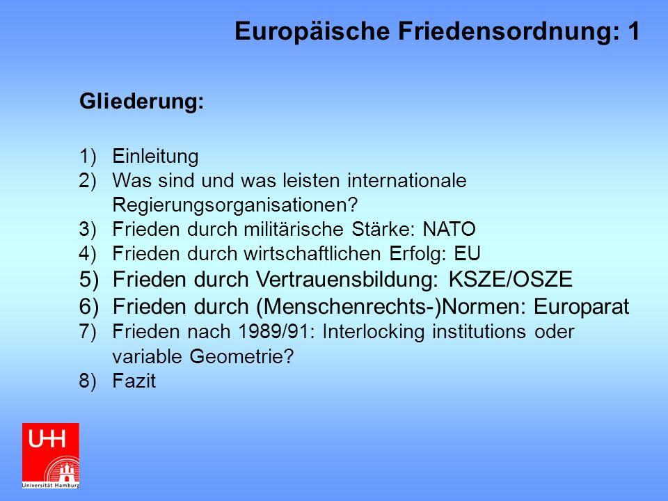 Europäische Friedensordnung: 1