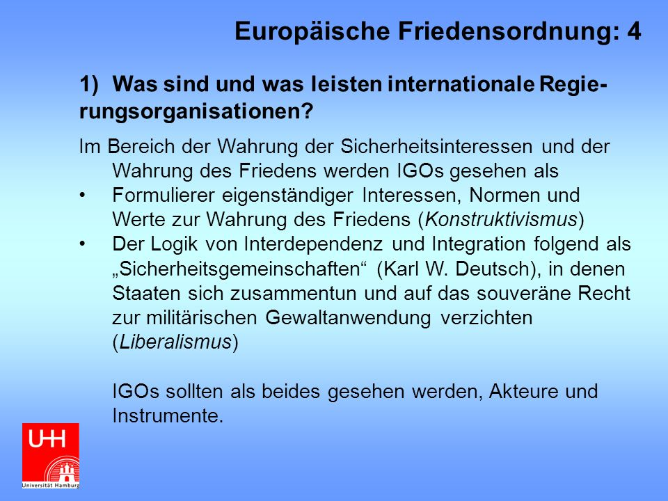 Europäische Friedensordnung: 4