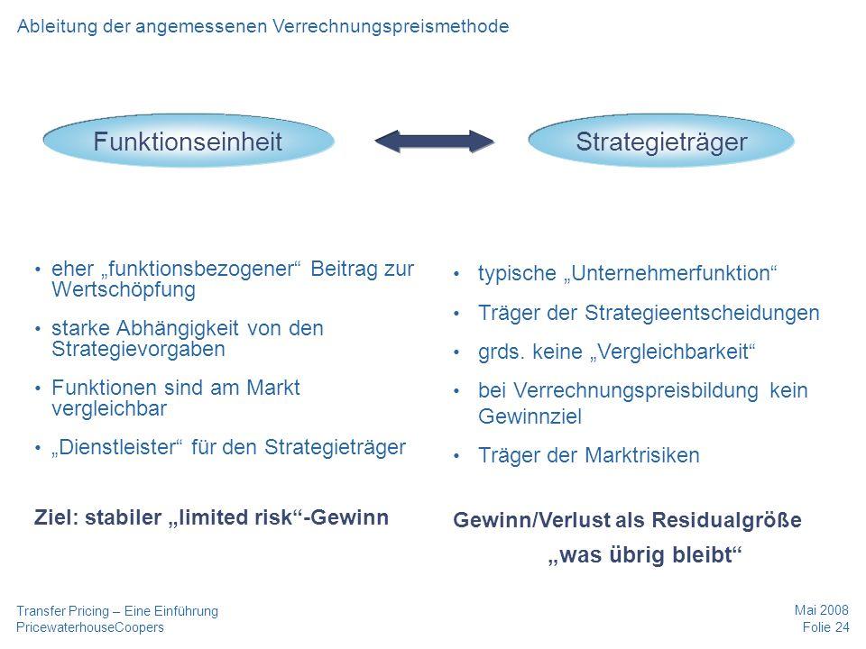 """Funktionseinheit Strategieträger """"was übrig bleibt"""