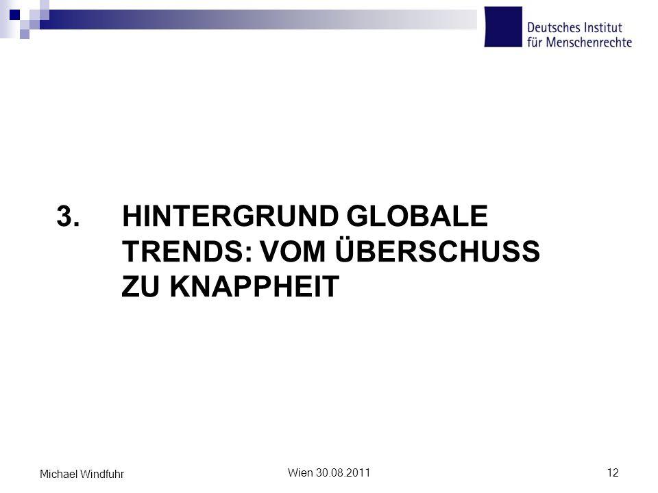 3. Hintergrund Globale Trends: Vom Überschuss zu Knappheit
