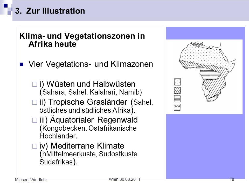 Klima- und Vegetationszonen in Afrika heute