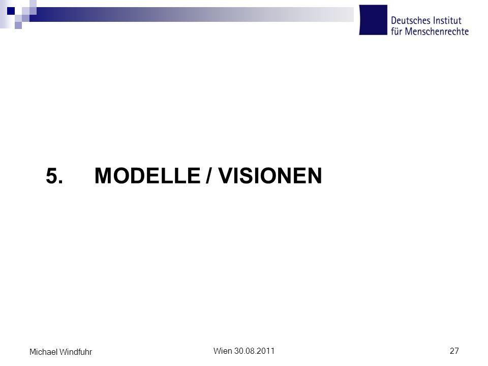 5. Modelle / Visionen Michael Windfuhr Wien 30.08.2011