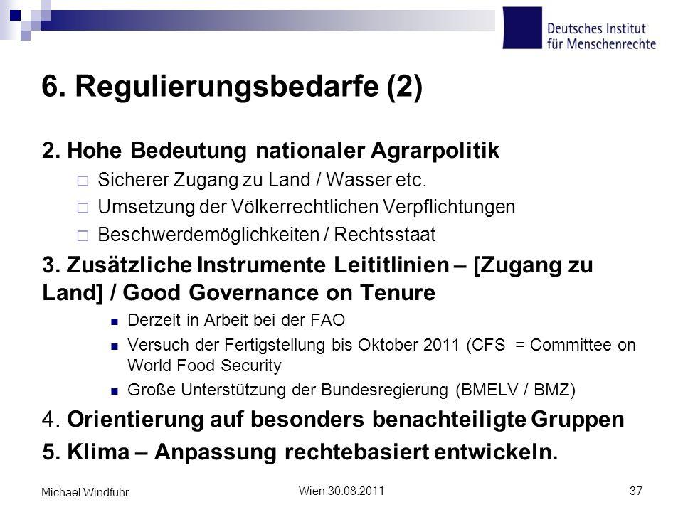 6. Regulierungsbedarfe (2)