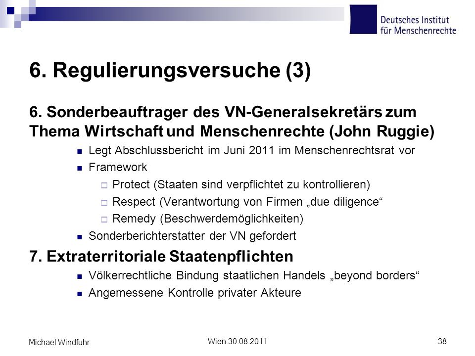 6. Regulierungsversuche (3)