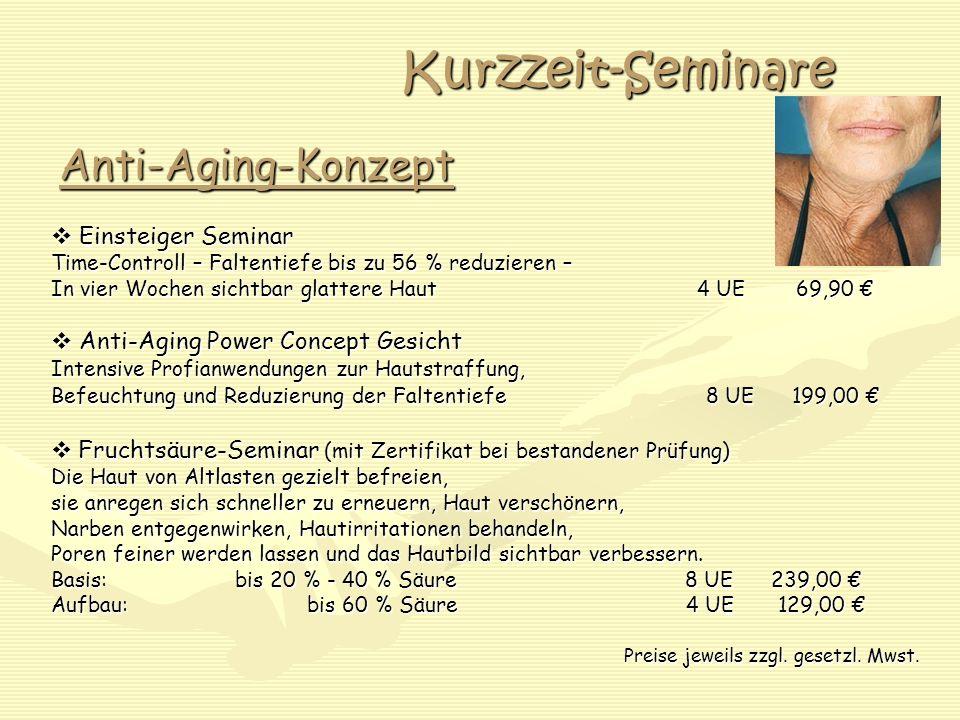 Kurzzeit-Seminare Anti-Aging-Konzept  Einsteiger Seminar