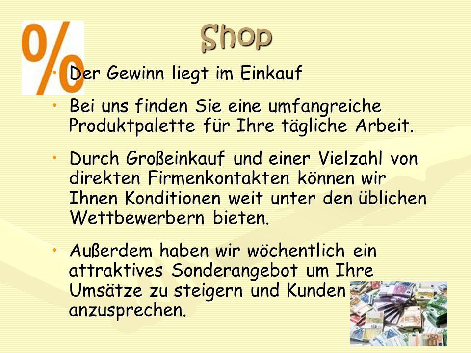 Shop Der Gewinn liegt im Einkauf