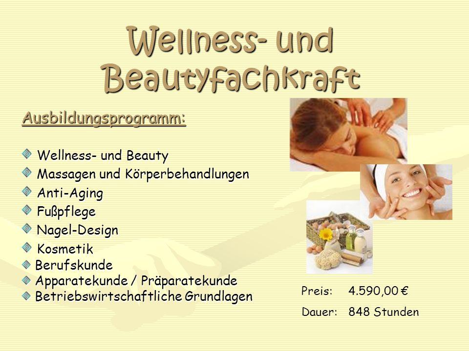 Wellness- und Beautyfachkraft