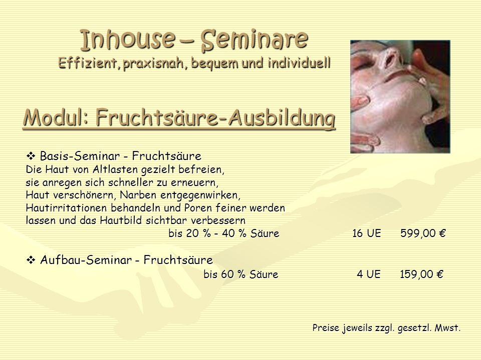 Inhouse – Seminare Effizient, praxisnah, bequem und individuell
