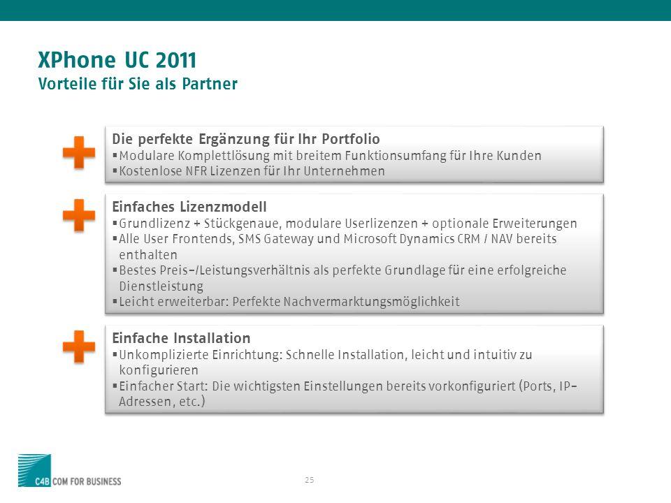 XPhone UC 2011 Vorteile für Sie als Partner