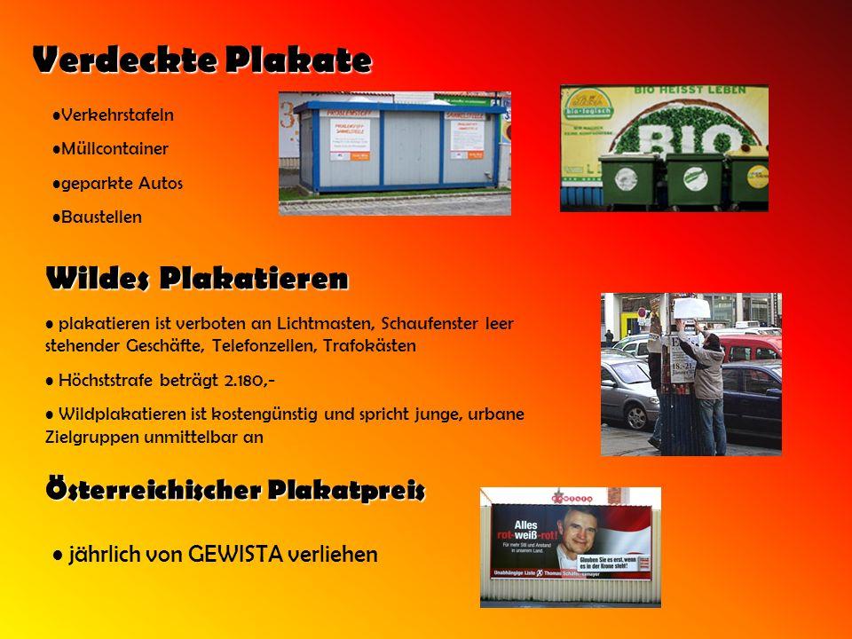 Verdeckte Plakate Wildes Plakatieren Österreichischer Plakatpreis