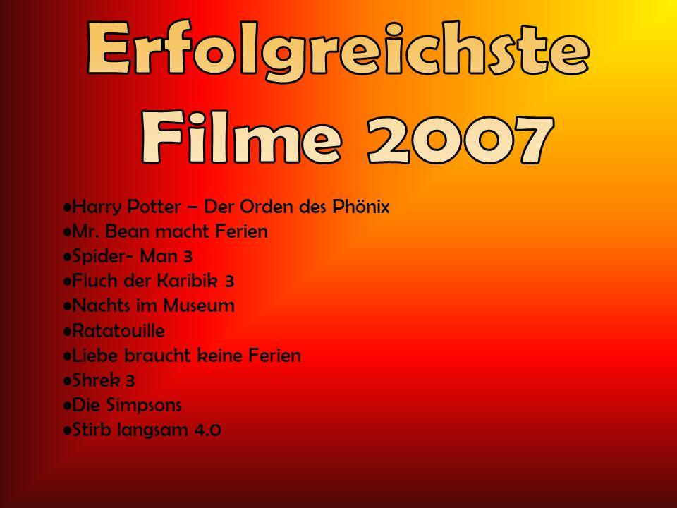 Erfolgreichste Filme 2007 Harry Potter – Der Orden des Phönix