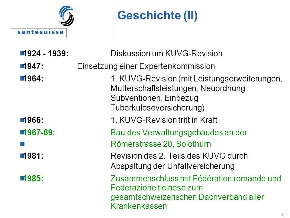 Geschichte (II) 1924 - 1939: Diskussion um KUVG-Revision