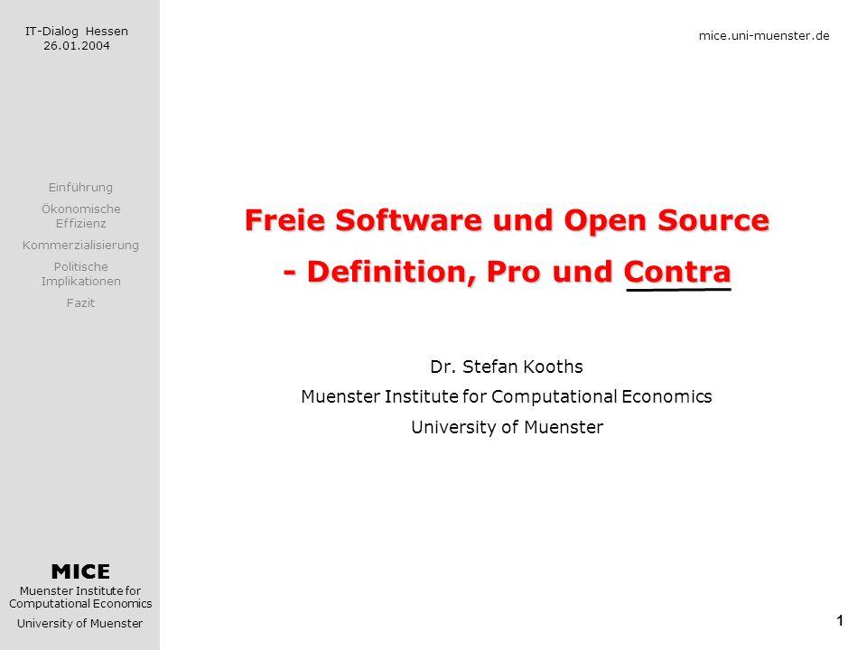 Freie Software und Open Source - Definition, Pro und Contra