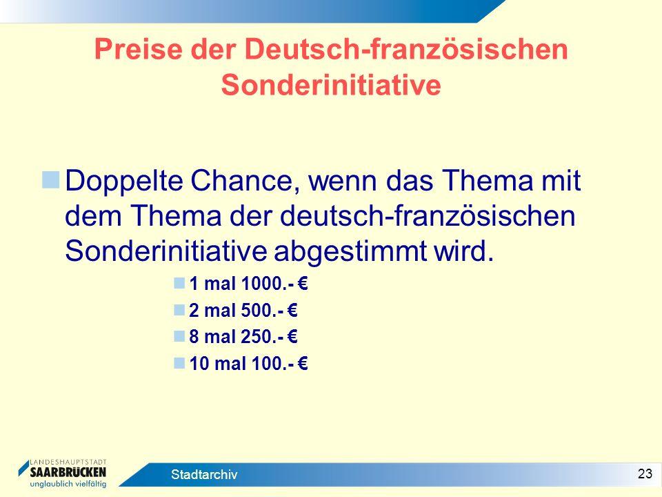 Preise der Deutsch-französischen Sonderinitiative