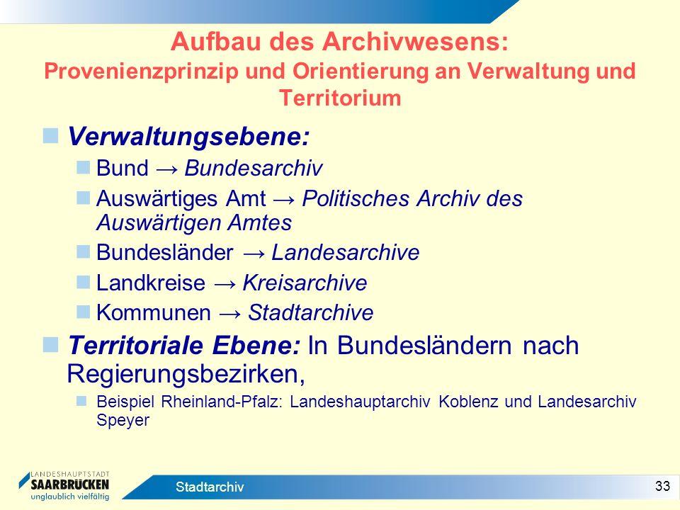 Territoriale Ebene: In Bundesländern nach Regierungsbezirken,