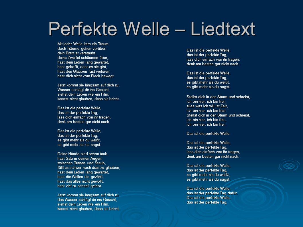 Perfekte Welle – Liedtext