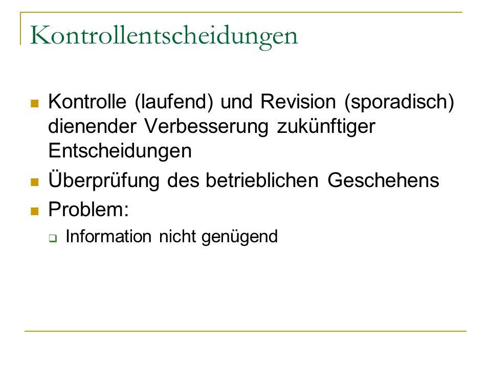 Kontrollentscheidungen