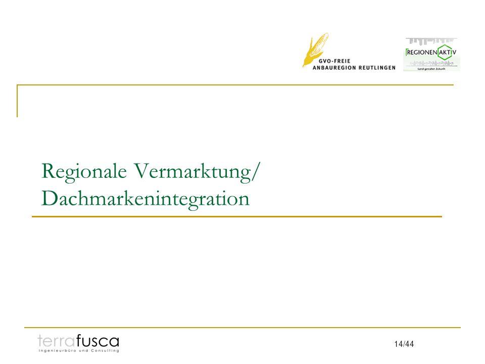 Regionale Vermarktung/ Dachmarkenintegration