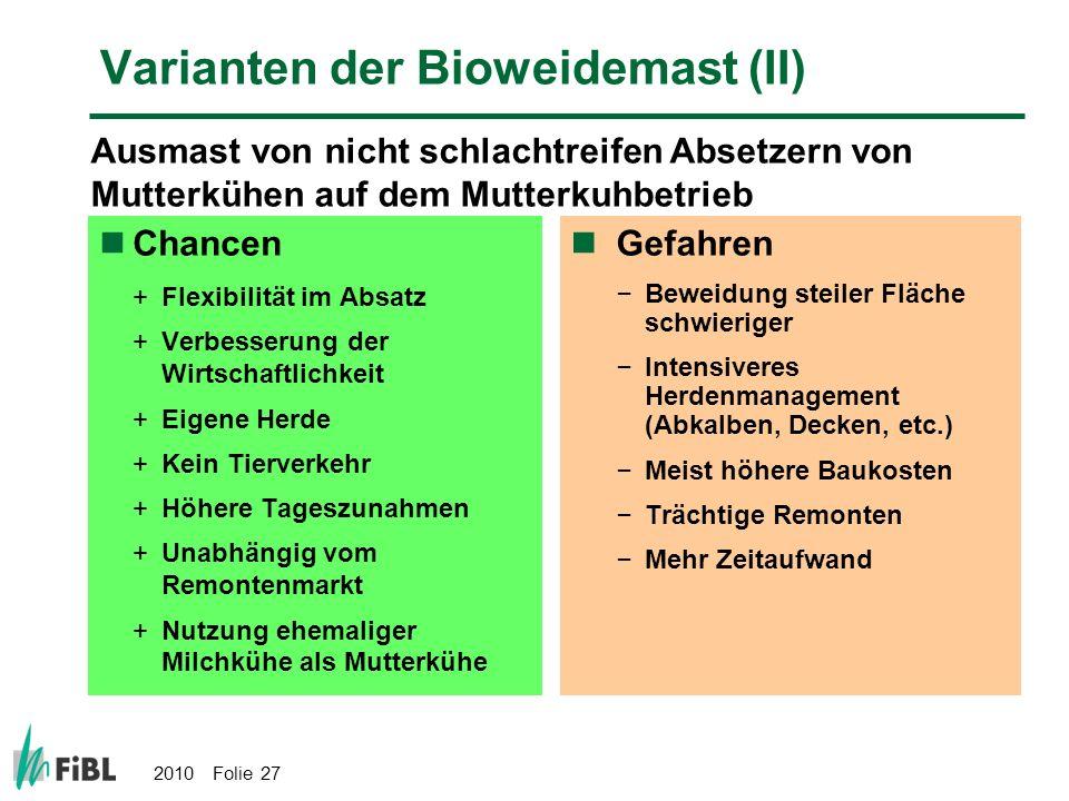 Varianten der Bioweidemast (II)