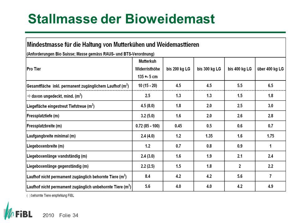 Stallmasse der Bioweidemast