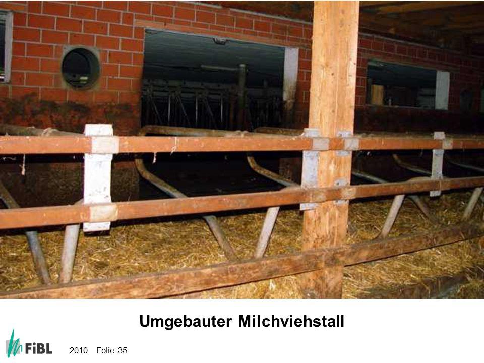 Bild: Umgebauter Milchviehstall