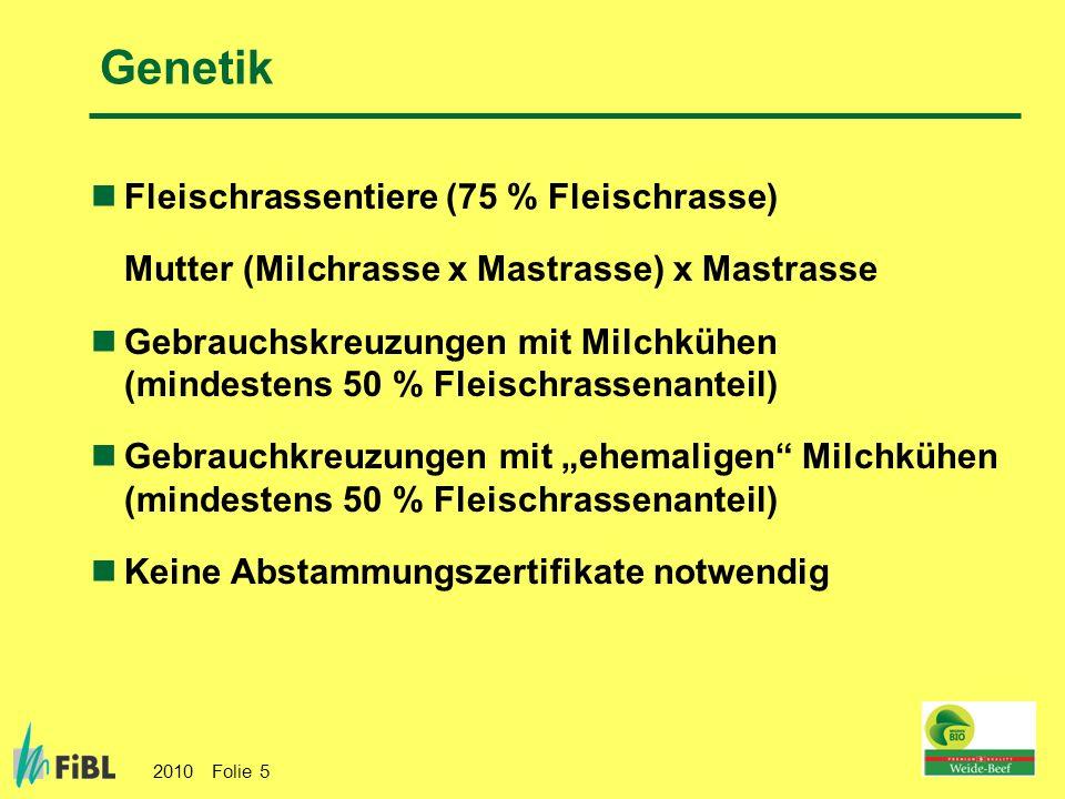Genetik Fleischrassentiere (75 % Fleischrasse)