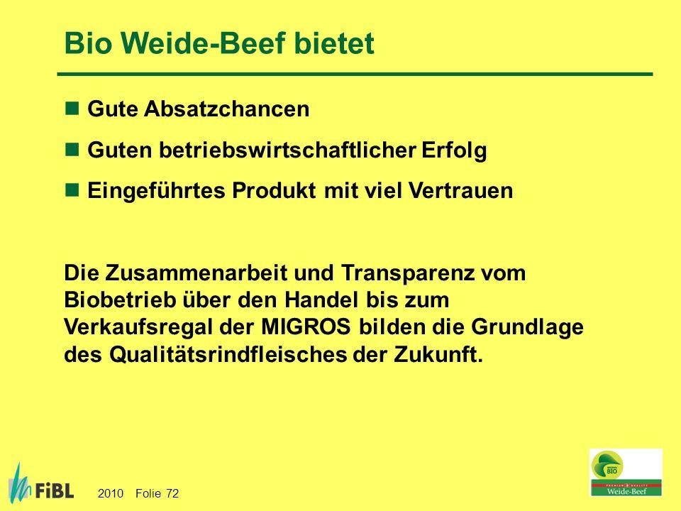 Bio Weide-Beef bietet Gute Absatzchancen