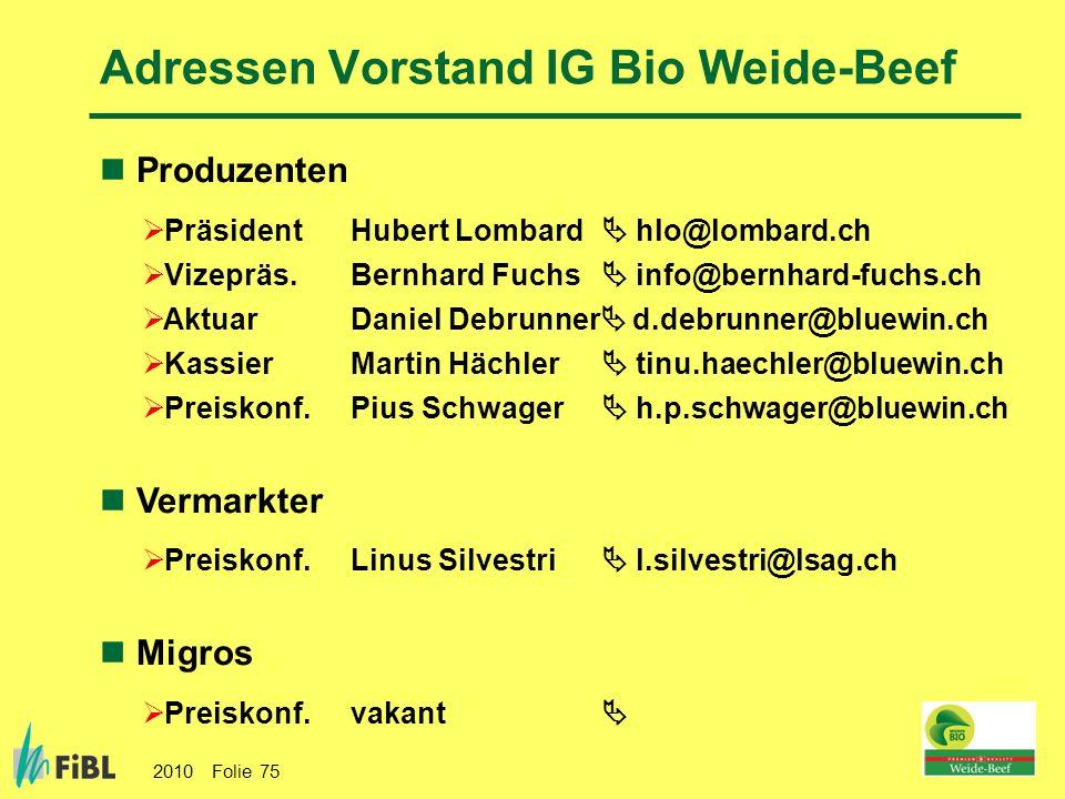 Adressen Vorstand IG Bio Weide-Beef