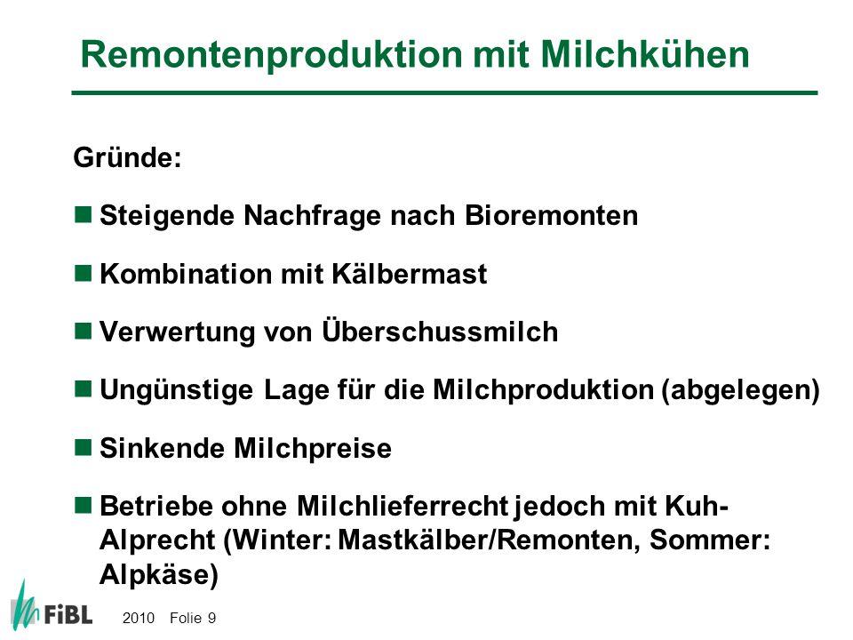 Remontenproduktion mit Milchkühen