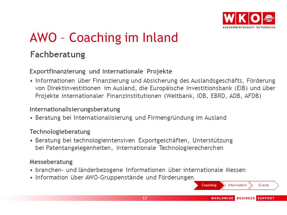 AWO – Coaching im Inland