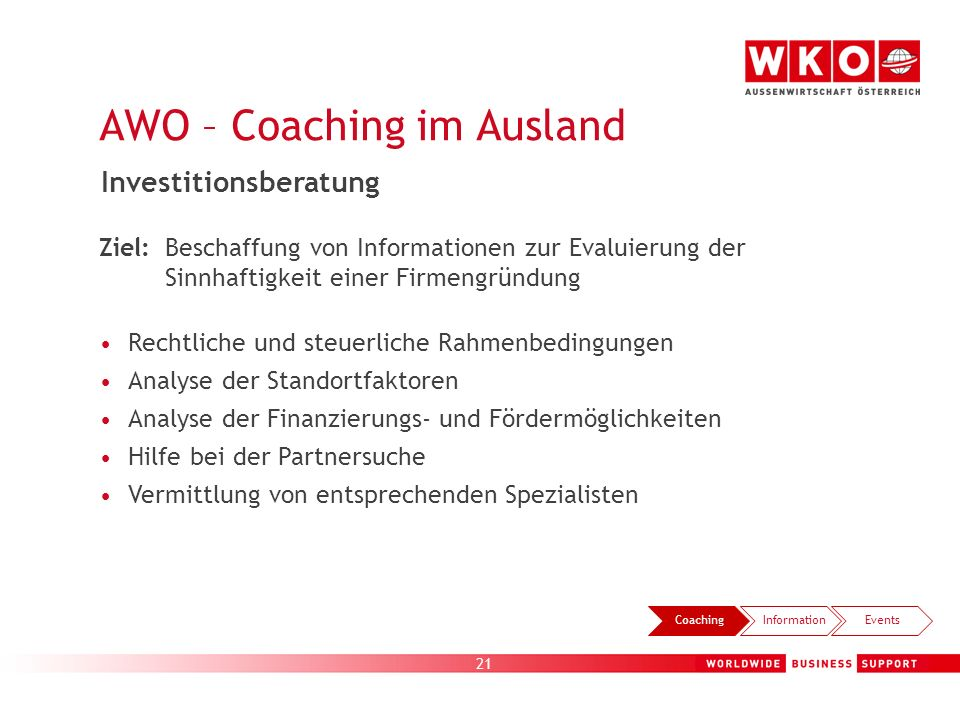 AWO – Coaching im Ausland