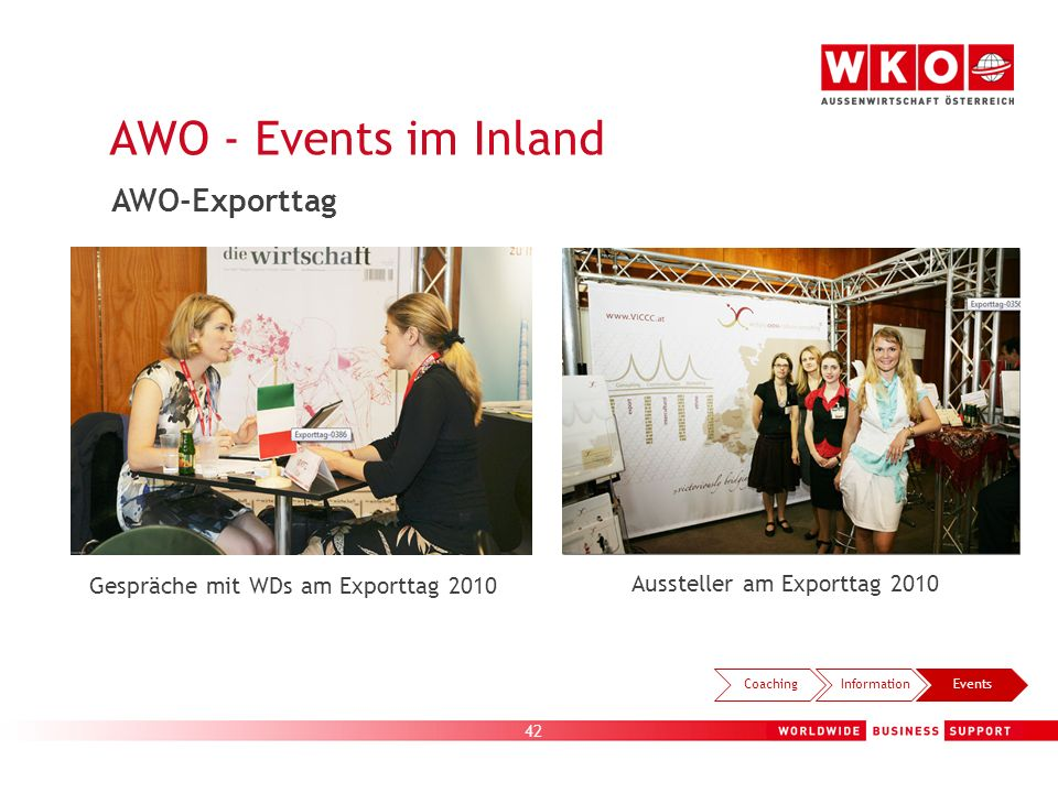 AWO - Events im Inland AWO-Exporttag