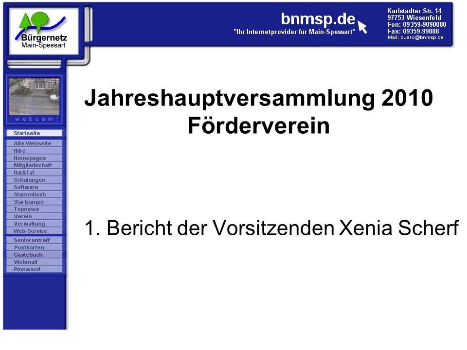 1. Bericht der Vorsitzenden Xenia Scherf