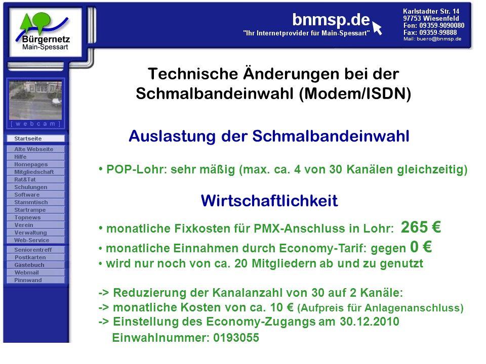 Technische Änderungen bei der Schmalbandeinwahl (Modem/ISDN)