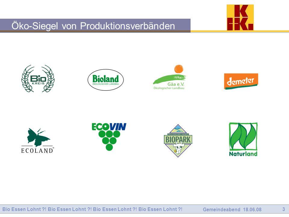Öko-Siegel von Produktionsverbänden