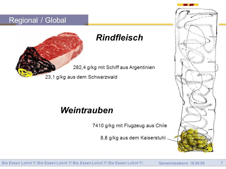 Rindfleisch Weintrauben Regional / Global