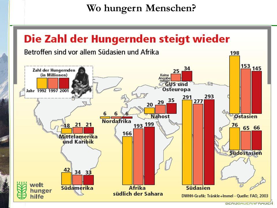 Wo hungern Menschen