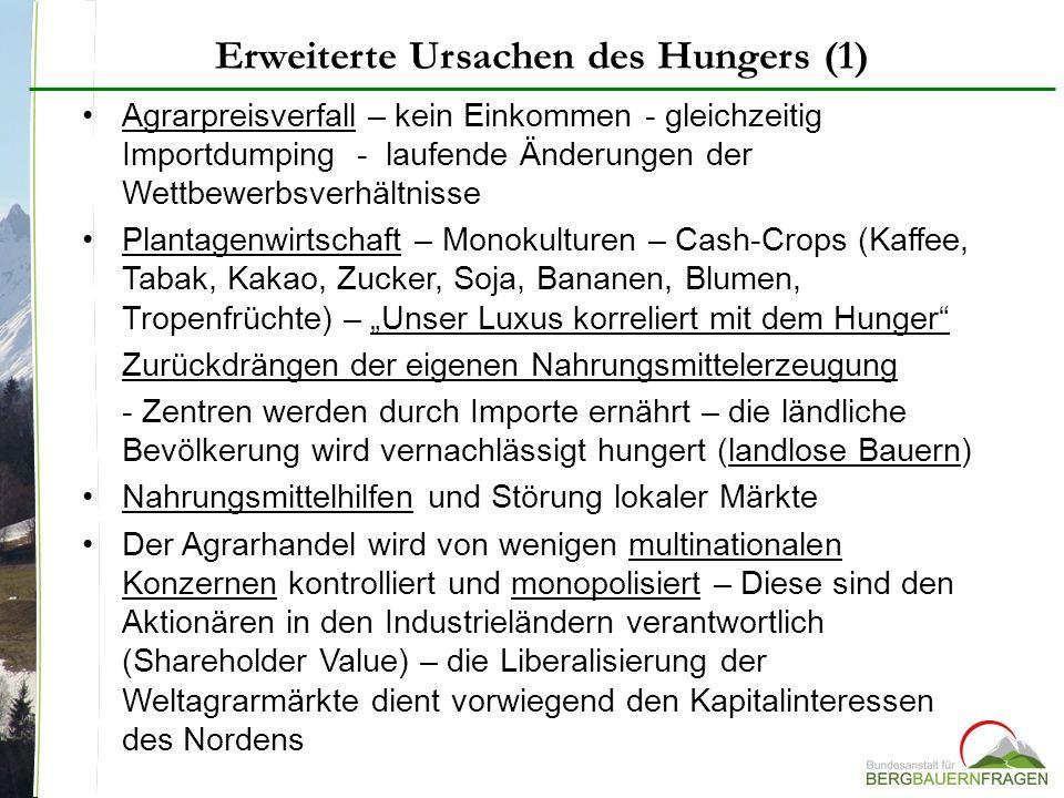 Erweiterte Ursachen des Hungers (1)