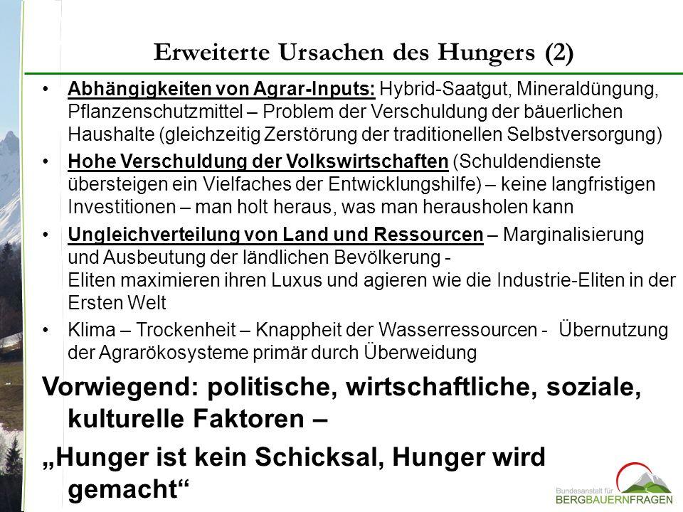 Erweiterte Ursachen des Hungers (2)