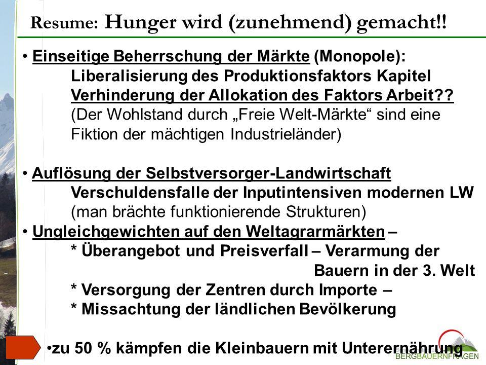 Resume: Hunger wird (zunehmend) gemacht!!