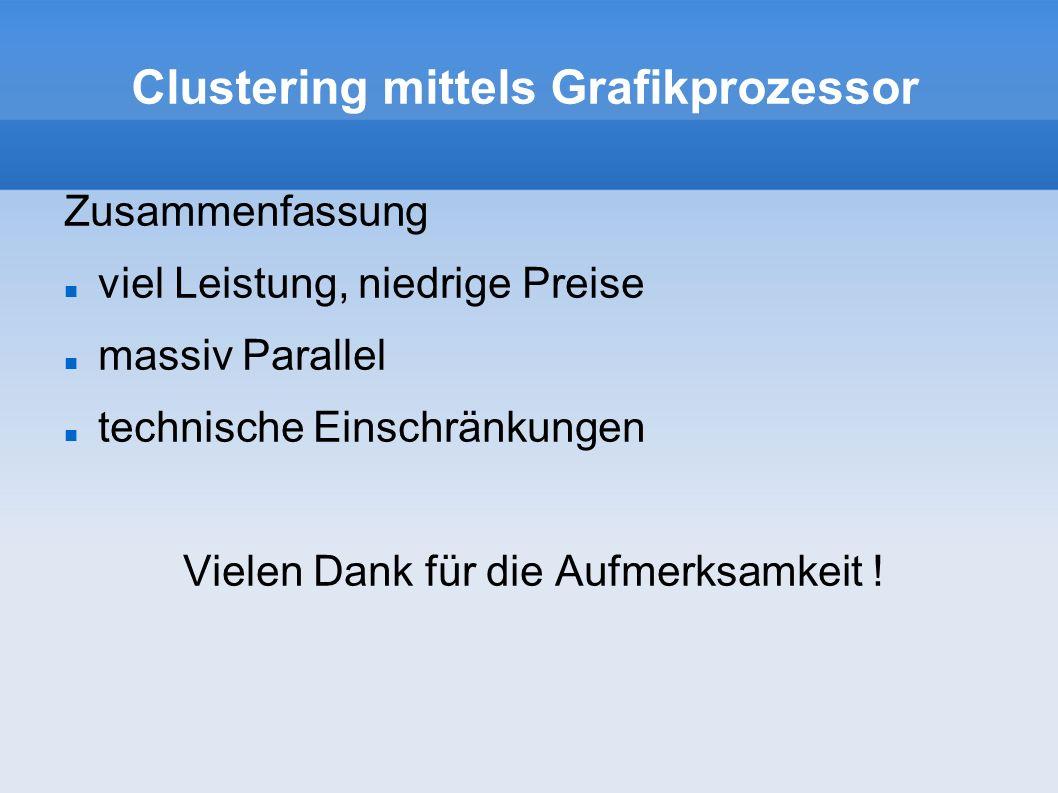 Clustering mittels Grafikprozessor