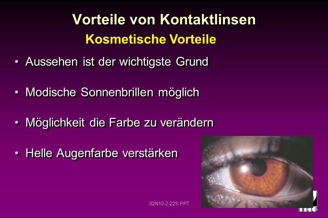 Vorteile von Kontaktlinsen
