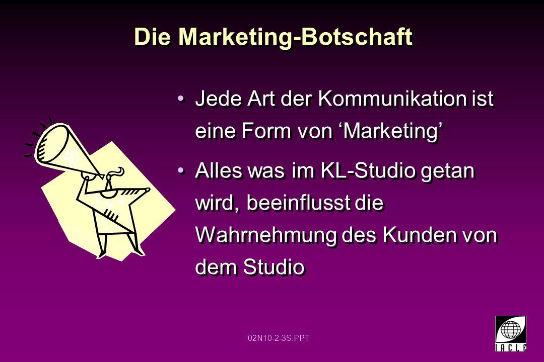 Die Marketing-Botschaft